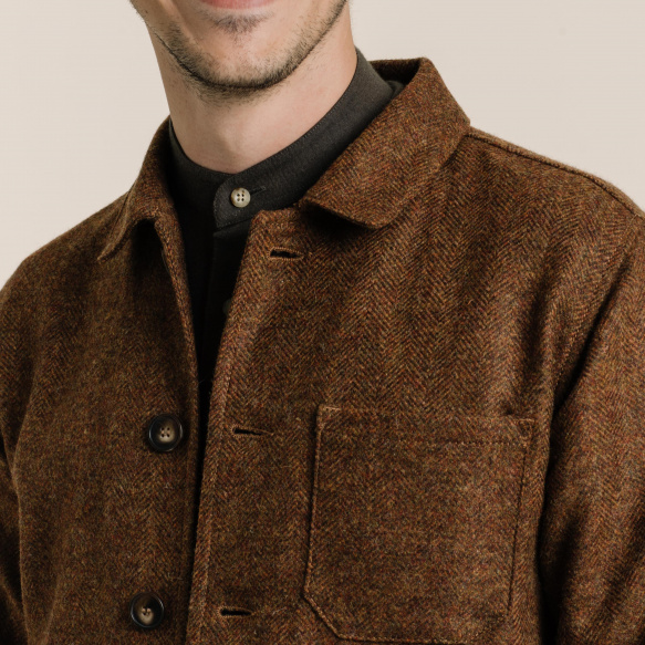 Rust wool worker's jacket