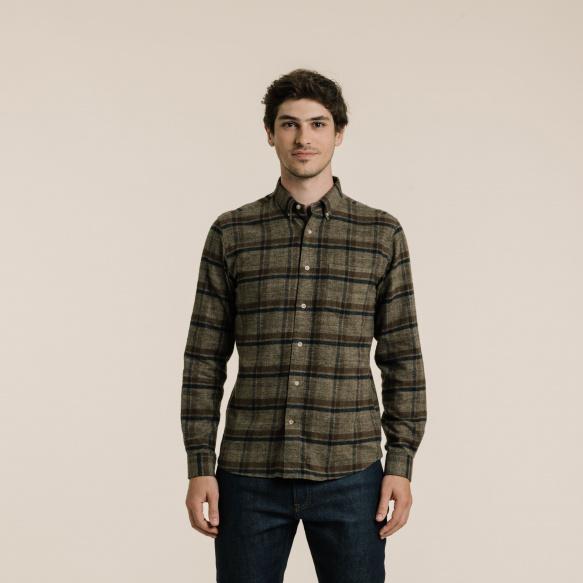 Chemise décontractée en flanelle à grands carreaux