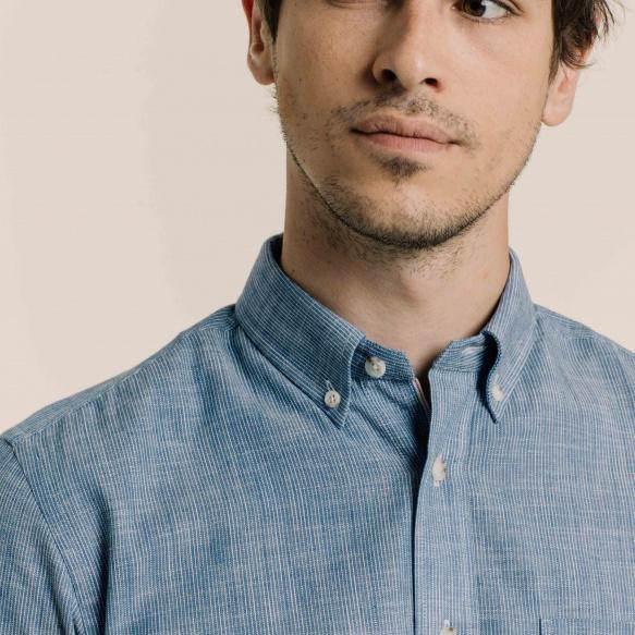 Chemise décontractée en chambray selvedge