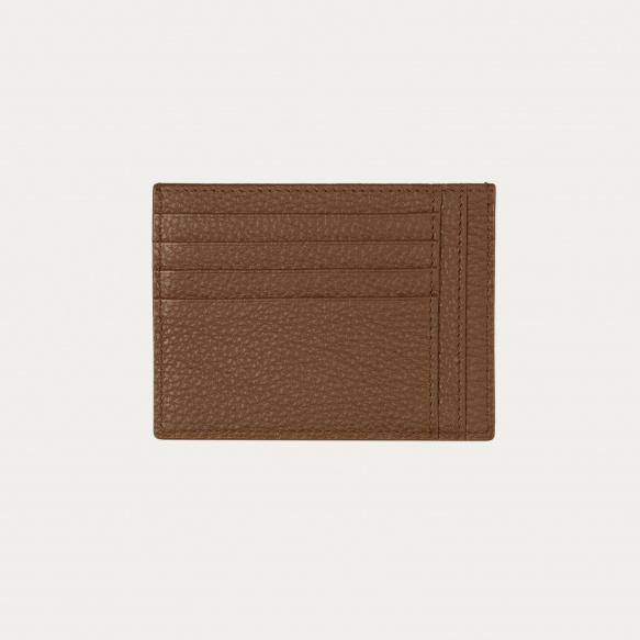 Porte-cartes d'identité marron