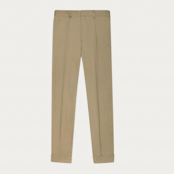 Beige pleated pants