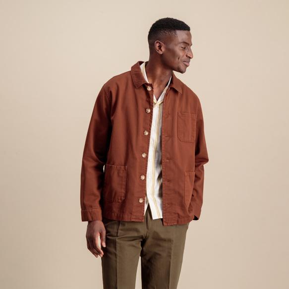 Ocher worker's jacket