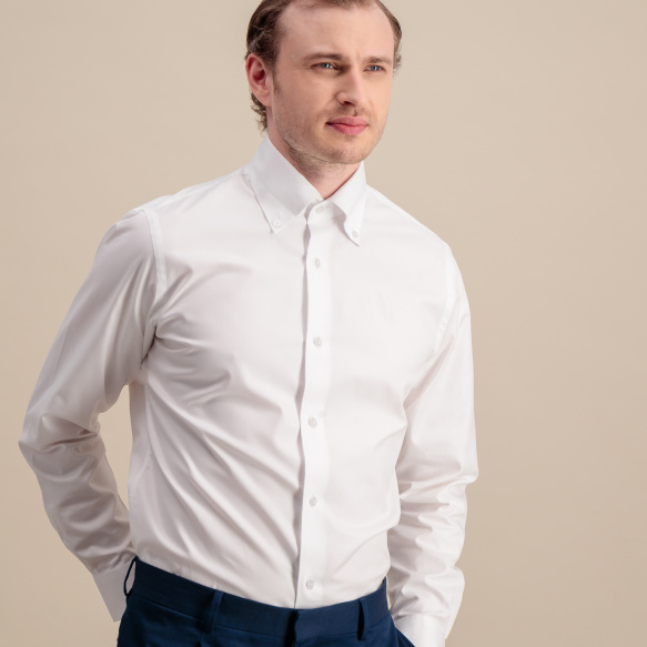 Slim fit white oxford shirt