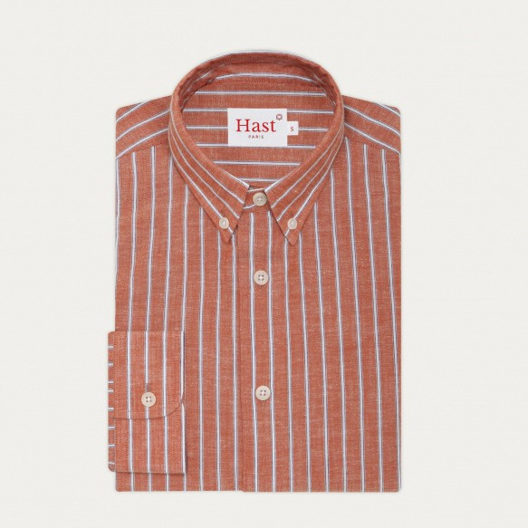 Cotton, linen and ramie red...