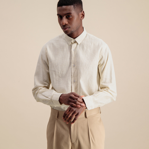 Classic fit beige stripes...