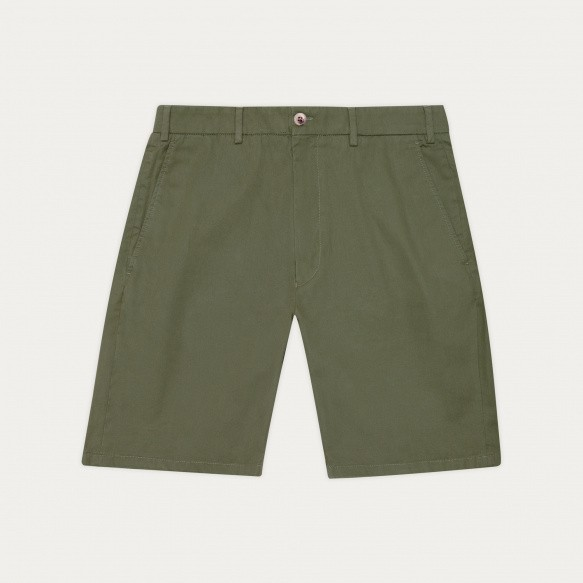 Kaki organic cotton shorts