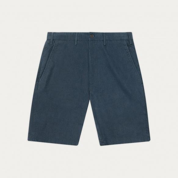 Blue organic cotton shorts