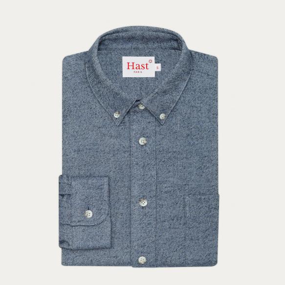Blue flannel casual shirt