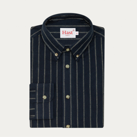 Navy with beige stripes...