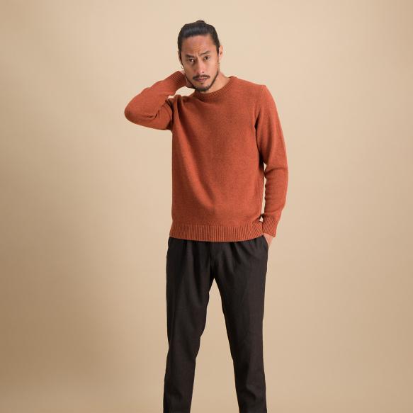 Rust merino wool jumper
