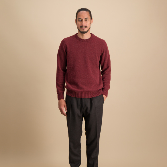 Burgundy merino wool jumper