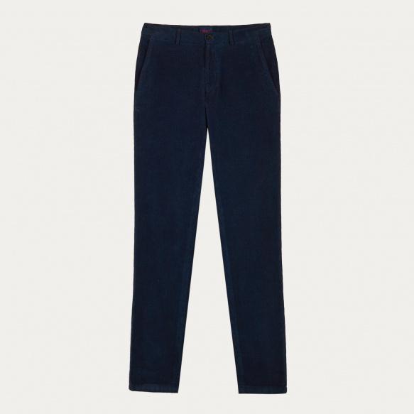 Navy blue corduroy chino pants
